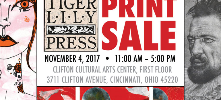 Tiger Lily Press Annual Print Sale, Nov. 4